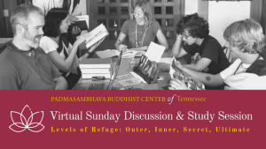 Students studying Buddhist texts