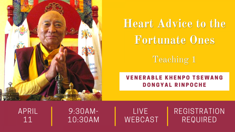 Live Webcast Teaching - Heart Advice for the Fortunate Ones