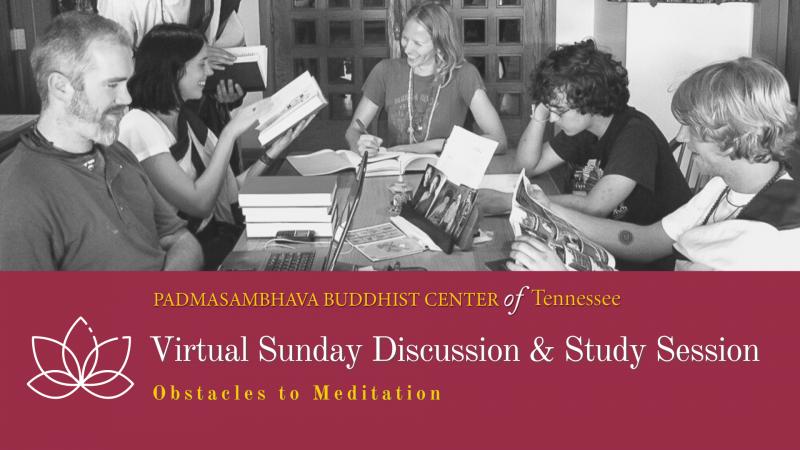 Students studying Buddhist texts.