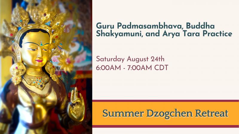 Guru Padmasambhava, Buddha Shakyamuni, and Arya Tara Practice